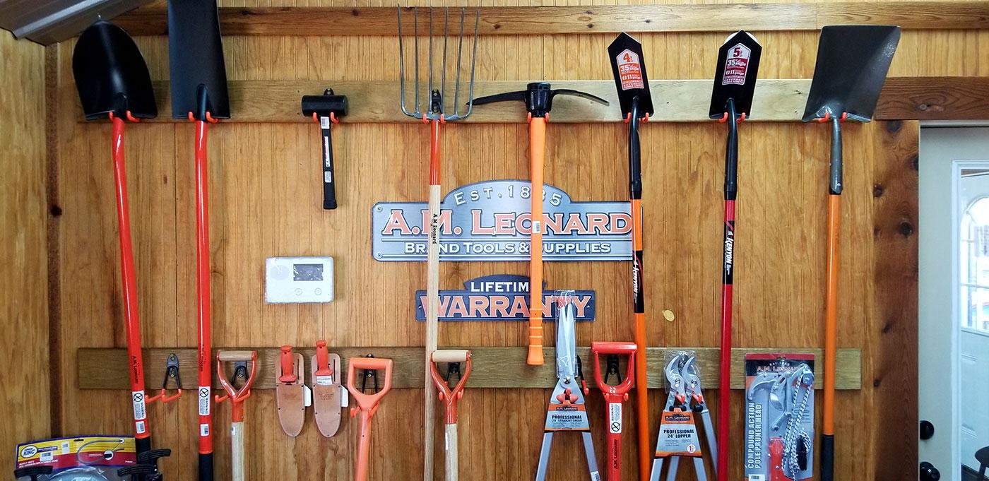 am leonard landscaping tools